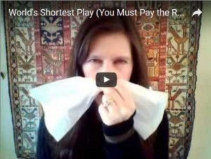 you must pay the rent napkin play