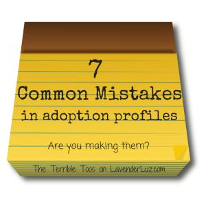 adoption profile mistakes