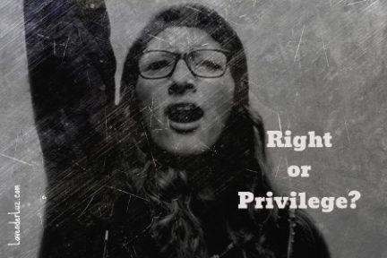 Answer Me This: Right vs Privilege