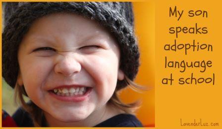 son speaks adoption language