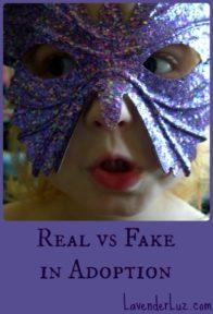 real vs fake in adoption