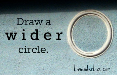 draw a wider circle