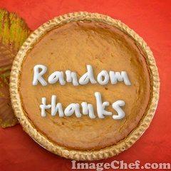 Random Thanks: an Oddball List