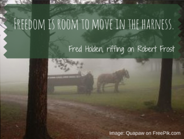 Fred Holden & Robert Frost on freedom