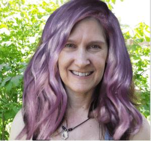 taking gray hair purple