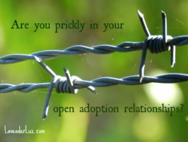 are you prickly in your open adoption relationships