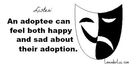 happy sad about adoption