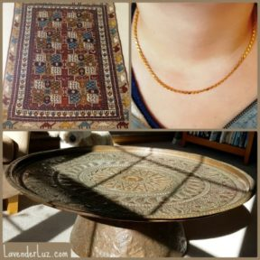 syrian carpet, jewelry, copper