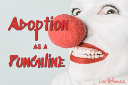 adoption as a joke