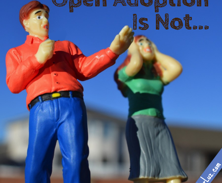 two figures afraid of open adoption