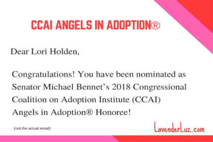 ccai angel in adoption honoree lori holden