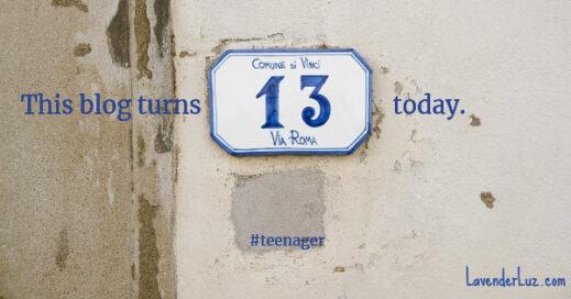 13th blogoversary anniversary