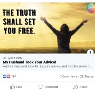 Dr Laura doesn't walk the talk on truth.